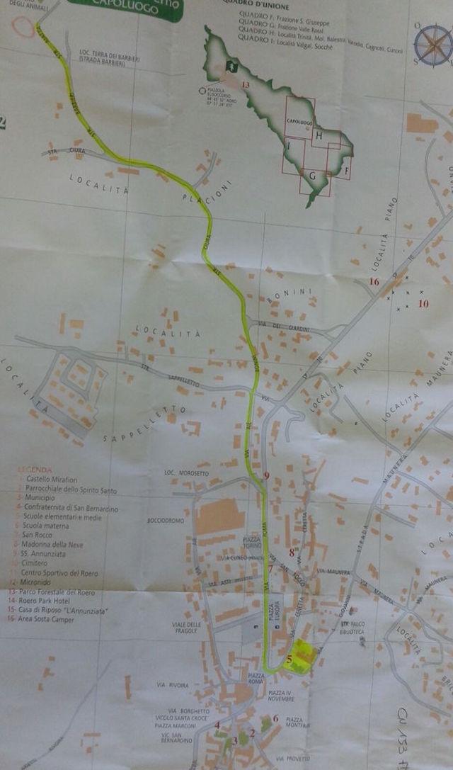 mappa percorso liberazione